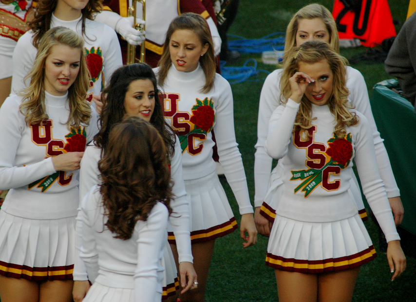 Usc song girls sammyvegass blog i wonder what the going rate for the blonde and brunette pictured above is for a weekend im thinking a few song girls at the husker spring game tailgate sciox Image collections